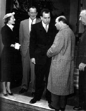 From left to right: THE FIRST LADY, JOHN WAYNE, PRESIDENT RICHARD NIXON and ALFONSO FELICI